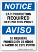 Notice: Ear Protection Required Sign
