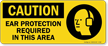Ear Protection Required In This Area Ppe Sign