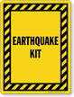 Earthquake Kit Sign