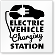 Electric Vehicle Charging Station, Parking Lot Stencil