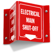 Electrical Main Shut Off Projecting Sign