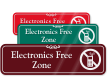 Electronics Free Zone Sign