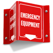 Emergency Equipment Projecting Sign