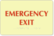 Emergency Exit Tactile Touch Braille Glow Sign