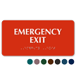 Emergency Exit Tactile Touch Braille Sign