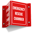 Emergency Rescue Chamber Projecting Sign