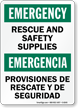 Emergency Rescue Safety Bilingual Sign