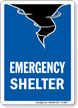 Emergency Shelter Rescue Area Sign