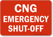 CNG Emergency Shut-Off Sign