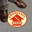Circular Emergency Stairs Glow Floor Sign