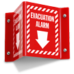 Evacuation Alarm Projecting Sign
