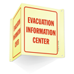 Evacuation Information Center Projecting Glow Sign