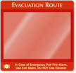 Use Exit Stairs Evacuation Map Holder