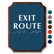 Exit Route Braille TactileTouch Wooden Plaque