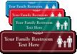 Family Restroom Symbol Sign