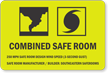 Custom Combined Safe Room Sign