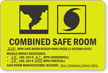 Combined Safe Room Evacuation Sign