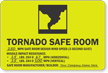 Tornado Safe Room Evacuation Sign