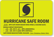 Hurricane Safe Room Evacuation Sign