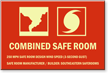 Custom Glow Combined Safe Room Sign