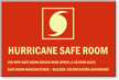 Custom Glow Hurricane Safe Room Sign