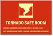 Custom Glow Tornado Safe Room Sign