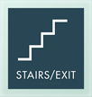Stairs Fire Door Keep Closed w/Stair Symbol