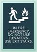 In Fire Emergency... w/Symbol