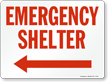 Emergency Shelter (Arrow Left)
