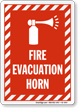 Fire Evacuation Horn Sign
