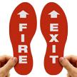 Fire Exit Footprints Floor Marker