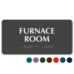 Furnace Room Tactile Touch Braille Sign