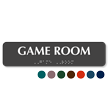 Game Room Tactile Touch Braille Sign