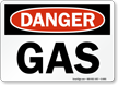 Danger Gas Sign
