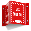 Gas Shut Off Projecting Sign