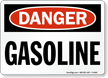 Danger Gasoline Sign