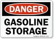 Gasoline Storage OSHA Danger Sign
