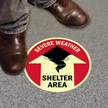 Shelter Area Severe Weather Sign
