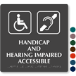 Handicap And Hearing Impaired Tactile Touch Braille Sign