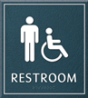 Restroom, Men/Handicapped, 8.625 in. x 7.75 in. Sign