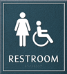 Restroom, Women/Handicapped, 8.625 in. x 7.75 in. Sign