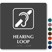 Hearing Loop TactileTouch Braille Sign