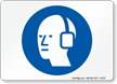 Hearing Protection Required Symbol Sign