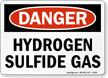 Danger Hydrogen Sulfide Gas Sign