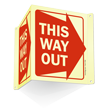 This Way Out (Right Arrow graphic) Sign