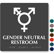 Gender Neutral Symbol Restroom Braille Sign