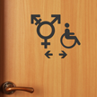 Handicap Gender Neutral Symbol Restroom Die Cut Sign Kit