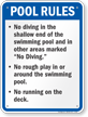Pool Rules Sign for Iowa