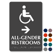 ISA All-Gender Braille Restrooms, Right Directional Sign