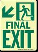 GlowSmart™ Final Exit Sign, Arrow Down Sign